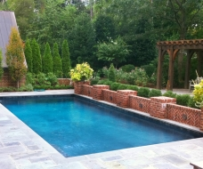 Geometric Pool with Pergola