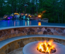 Firepit Inside of Beach Entry Pool