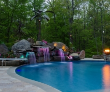 Custom Waterfall with LED Lighting
